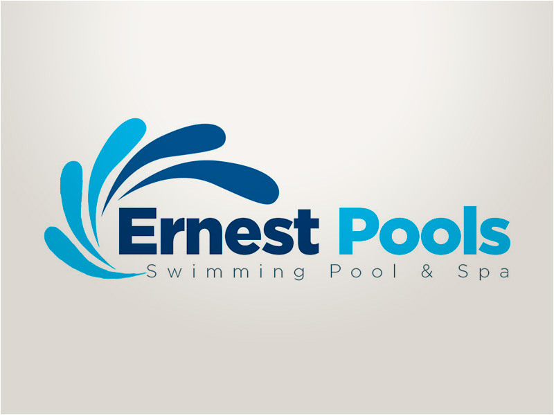 Swimming Pool Logo Design Ernest Pools Swimming Pool u0026 Spa